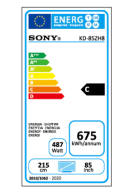 KD 85zh8 energy label